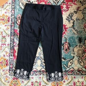 Brooks Brothers Embroidered Capris